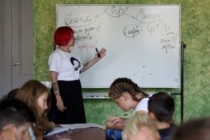 На уроке у Натальи Романовой